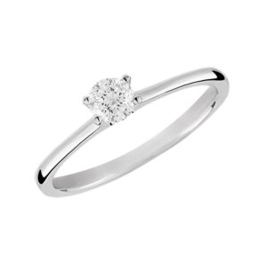 Eternity Diamond Rings - Round Cut Solitaire Engagement Ring (RDSOL025EF)